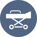healthcare, medical equipment, stretcher icon