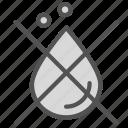 blood, cross, denied, drop, not icon