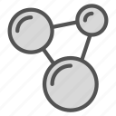 cell, circle, connection icon