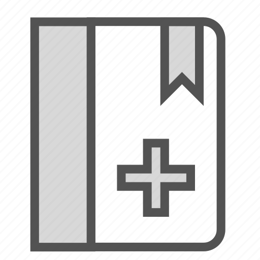 book, cross, doctor, jurnal, medical icon