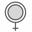 circle, cross, female, mark, woman icon