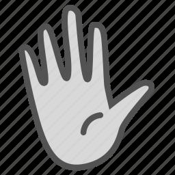 examination, hand, medical, plain icon