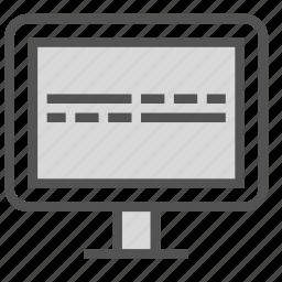 flat, life, line, monitor, signal icon