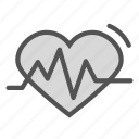 heart, life, monitor, signal icon