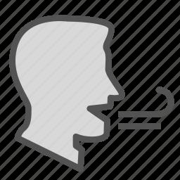 avatar, breath, face, man icon