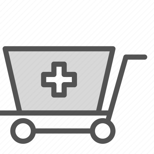 cart, cross, doctor, medical, trolly icon