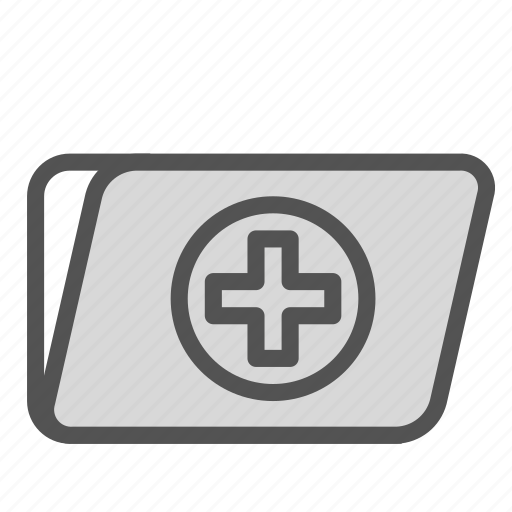 cross, document, file, medical icon