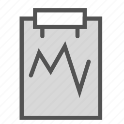 analysis, chart, examination, medical, paper, report icon