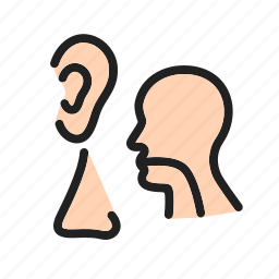 ear, examination, health care, medical, nose, patient, throat icon
