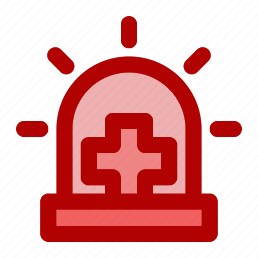 alarm, ambulance, center, emergency, hospital, siren icon