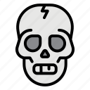 skull, skeleton, dead, death, halloween, bone, health