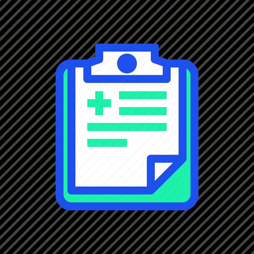 doctor, health, medic, medical, record icon