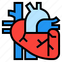healthcare, heart, medical, organ icon
