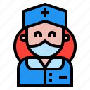 avatar, healthcare, medical, nurse icon