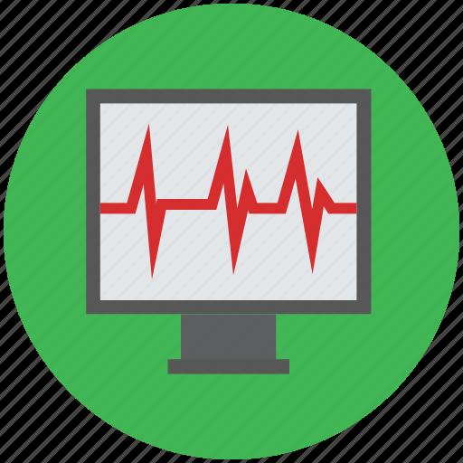 heartbeat, heartbeat screen, lifeline, pulsation, pulse, pulse rate icon