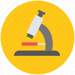 medical, microscope, research, test, zoom icon