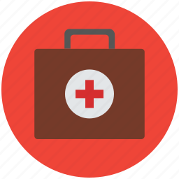 first aid, first aid bag, first aid kit, medical, medical bag, medical kit icon