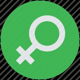 female, female gender, feminine, gender, lady, sex, woman icon