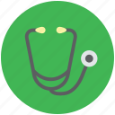 heart sounds checker, medical, phonendoscope, pulse checker, stethoscope icon