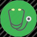 heart sounds checker, medical, phonendoscope, pulse checker, stethoscope icon
