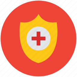 healthcare, medical care, medical shield, medical sign, medicine, protection, shield icon