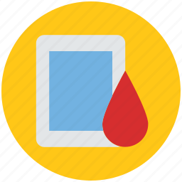 bleeding, blood, blood drop, blood sign, drop with ipad, healthcare, medical icon