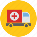 ambulance, health, healthcare, medical, medical van, medicine, transport, van, vehicle icon