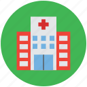 center, clinic, health, hospital, hospital building, medical icon