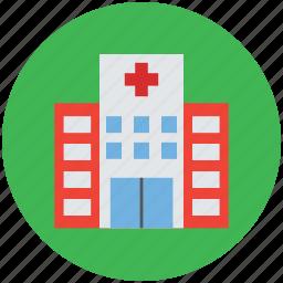 center, clinic, health, hospital, hospital building, medical icon