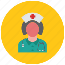doctor, lady doctor, medical, medicine, midwife, nurse icon