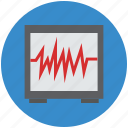 ecg, heartbeat, heartbeat screen, lifeline, pulsation, pulse, pulse rate icon