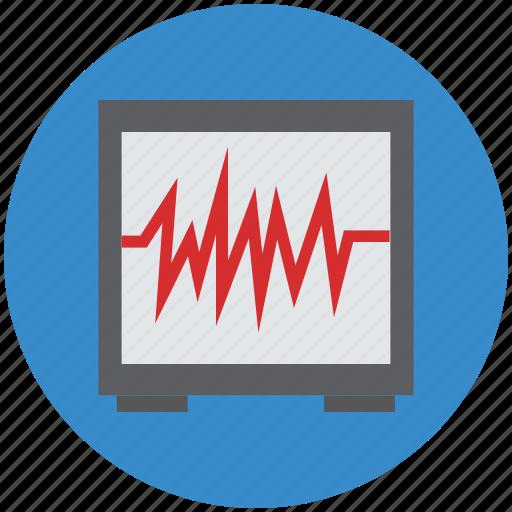 ecg, heartbeat, heartbeat screen, lifeline, pulsation, pulse, pulse rate icon