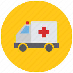 ambulance, health, healthcare, medical, medical van, medicine, transport, van, vehicle icon