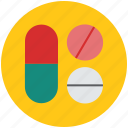 capsule and pills, drug, medications, medicines, pills, tablets icon