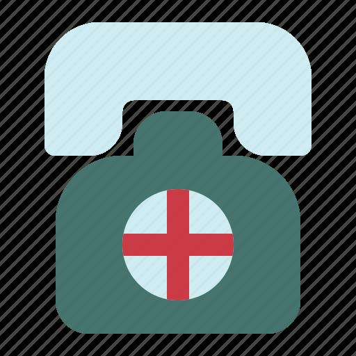 call, center, emergency, hospital, medical icon