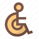 disability, handicap, person, wheelchair icon