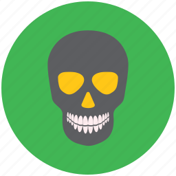 danger, dead, death, human skull, poison, skull, toxicant icon
