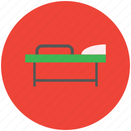 healthcare, hospital, patient, patient bed, stretcher icon