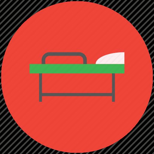 healthcare, hospital, patient, patient bed, stretcher icon