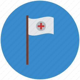 flag, healthcare, medical, medical flag, services icon