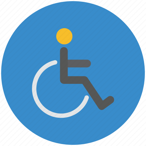 disability, disable, disabled, handicap, paralyzed, wheelchair icon