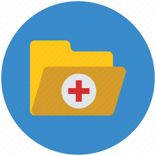 file folder, folder, healthcare, medical folder, open folder icon