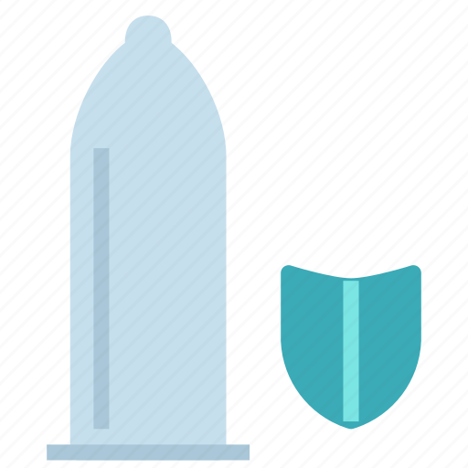 condom, protection, safe, sex, shield icon
