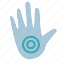 circle, hand, point, pressure icon
