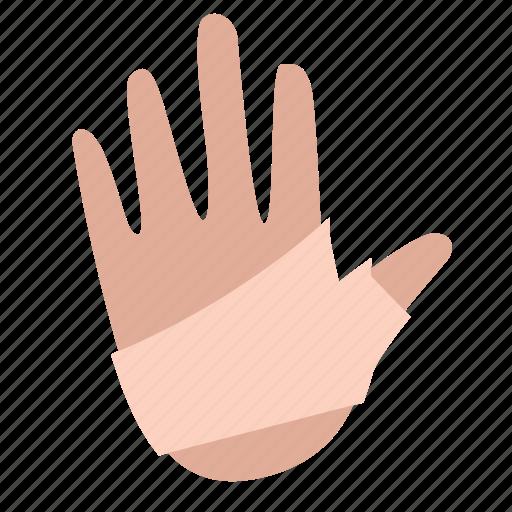 hand, injury, wrap icon