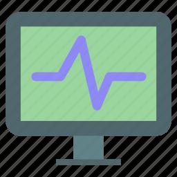 beat, heart, life, monitor, signal icon