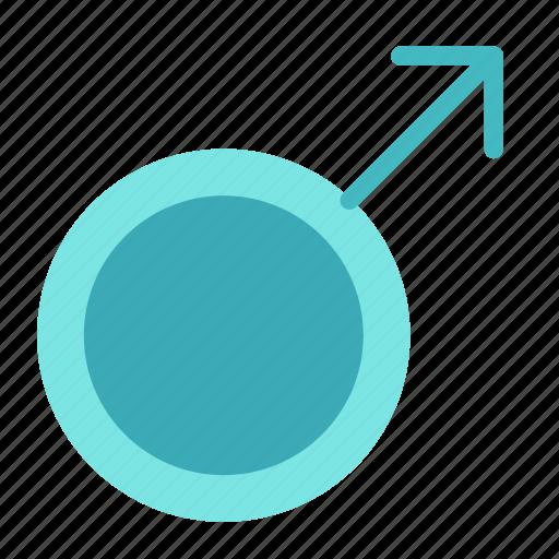 arrow, circle, male, man, mark icon