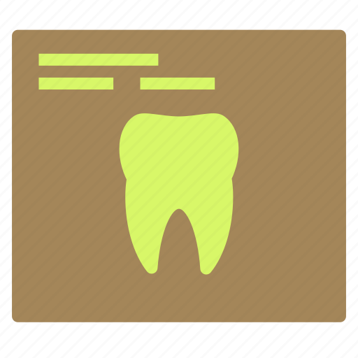 dentist, medical, report, teeth, tooth icon