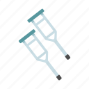 cane, crutches, injury, medical, tools icon