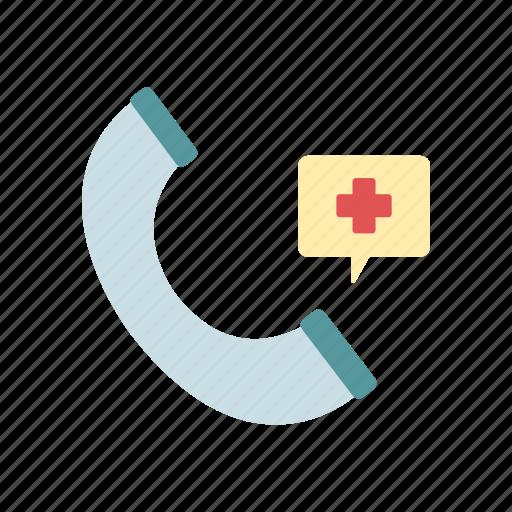 communication, health care, medical emergency call, phone, urgent icon